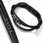 Kožený náramek s černou komponenty, délka 20 cm [3]