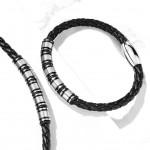 Kožený náramek s ocelovými komponenty, délka 21,5 cm [3]
