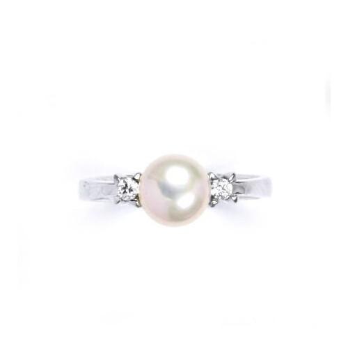 Stříbrný prsten s růžovou perlou 7,5 mm (2,34 g, 52)