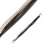 Kožený náramek černo-zlatý, délka 19 cm [1]