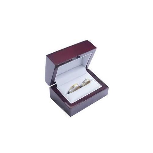 Dřevěná dárková krabička na snubní prsteny