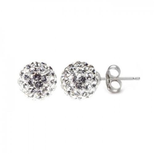 Stříbrné náušnice 6mm kuličky Crystals from Swarovski® Crystal