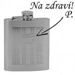 Ocelová kapesní lahev - placatka 180ml v dárkovém balení [1]
