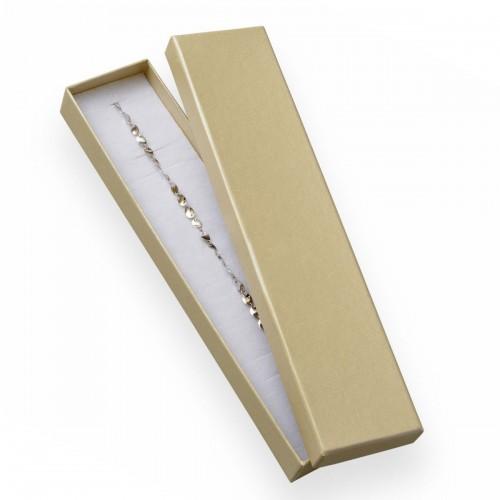 Dárková krabička na náramek - perleťově smetanová