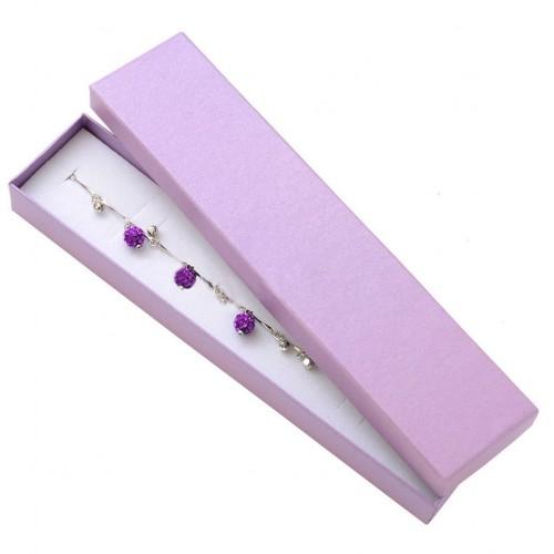 Dárková krabička na náramek - perleťově fialová