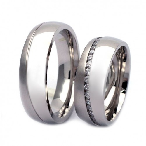 NSS3012 snubní prsteny ocel - pár