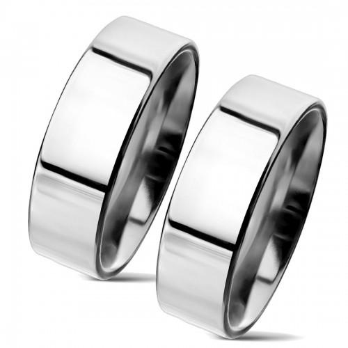 NSS3004 Snubní prsteny chirurgická ocel 6mm - pár