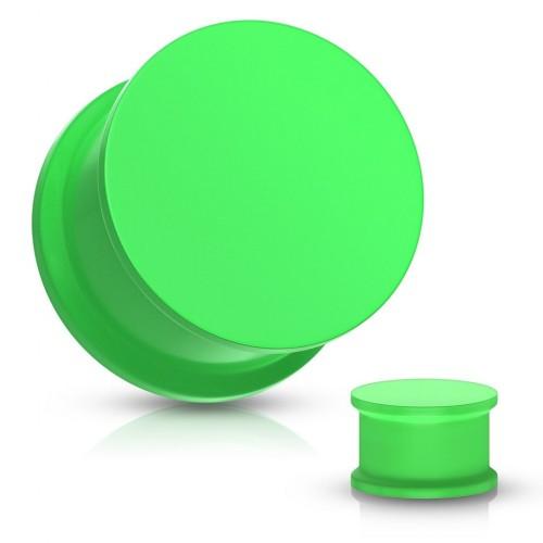 Plug do ucha silikon, zelená barva (zelená, 4 mm)