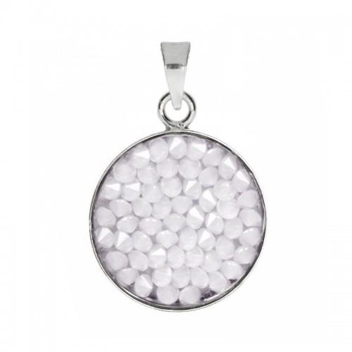Přívěsek Crystals from Swarovski® 15mm, WHITE OPAL