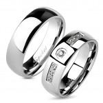 OPR0094 + OPR1234 Ocelové snubní prsteny - pár [0]