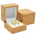 Plastová krabička na snubní prsteny - imitace dřeva [0]