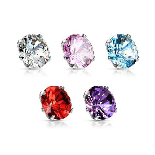 Náhradní kamínek k labretě TITAN, závit 1,2 mm, 3mm (červená, 3 mm)