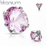 Náhradní kamínek k labretě TITAN, závit 1,2 mm, 3mm (červená, 3 mm) [2]