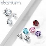 Náhradní kamínek k labretě TITAN, závit 1,2 mm, 3mm (červená, 3 mm) [6]