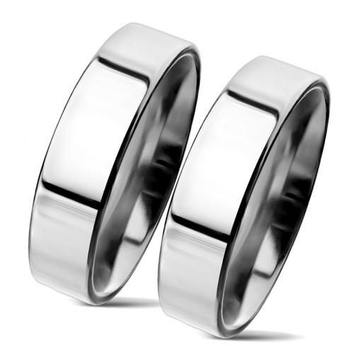 NSS3004 Snubní prsteny chirurgická ocel 5mm - pár